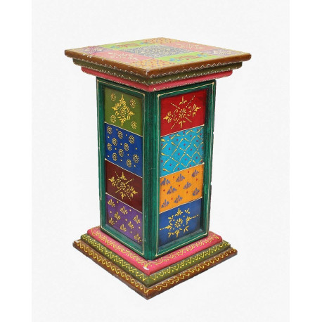 Wooden handcrafted multi color three drawer box