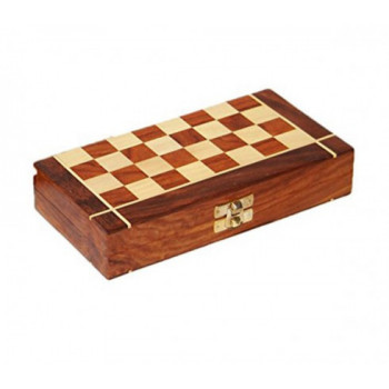 Wooden Chess Box with Chess Pieces