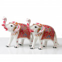 White Royal Elephant of Metal with Meenakari work
