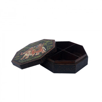 Hancrafted  Mukhwas Box with 4-Setcion