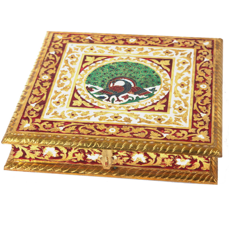 Dry fruit Box with Rajasthani Meenakari Work