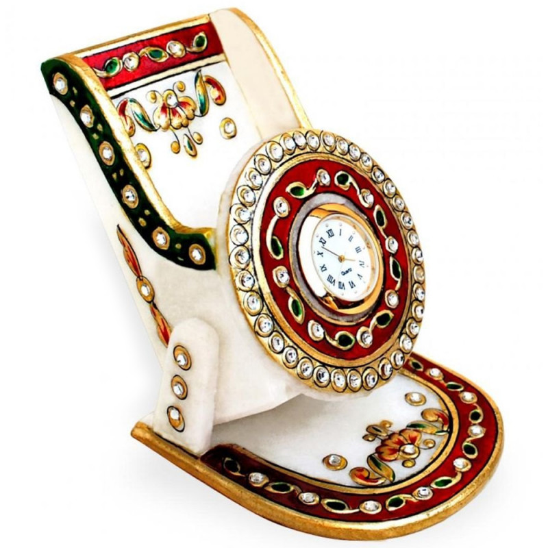Marble mobile stand with stylish meenakari work