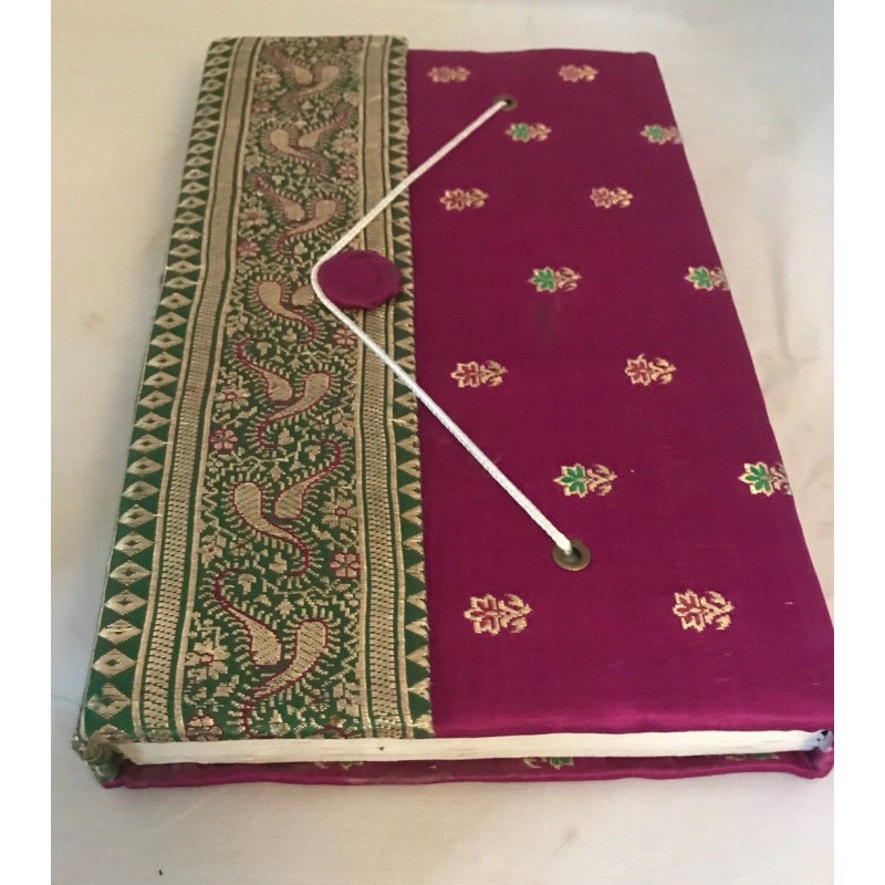 Handmade paper silk saree fabric cover diary